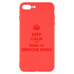 Чехол для iPhone 7 Plus KEEP CALM and LISTEN to DEPECHE MODE