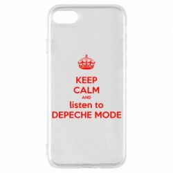 Чехол для iPhone 8 KEEP CALM and LISTEN to DEPECHE MODE