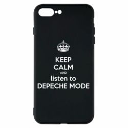 Чехол для iPhone 8 Plus KEEP CALM and LISTEN to DEPECHE MODE