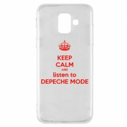 Чехол для Samsung A6 2018 KEEP CALM and LISTEN to DEPECHE MODE