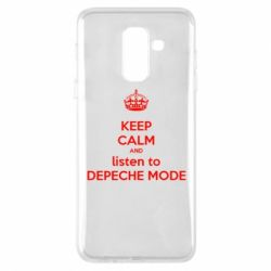 Чехол для Samsung A6+ 2018 KEEP CALM and LISTEN to DEPECHE MODE
