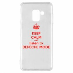 Чехол для Samsung A8 2018 KEEP CALM and LISTEN to DEPECHE MODE
