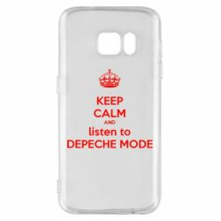 Чехол для Samsung S7 KEEP CALM and LISTEN to DEPECHE MODE