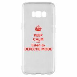 Чехол для Samsung S8+ KEEP CALM and LISTEN to DEPECHE MODE