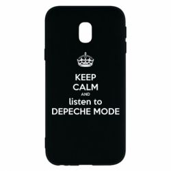 Чехол для Samsung J3 2017 KEEP CALM and LISTEN to DEPECHE MODE