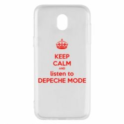 Чехол для Samsung J5 2017 KEEP CALM and LISTEN to DEPECHE MODE