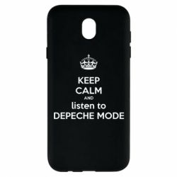 Чехол для Samsung J7 2017 KEEP CALM and LISTEN to DEPECHE MODE