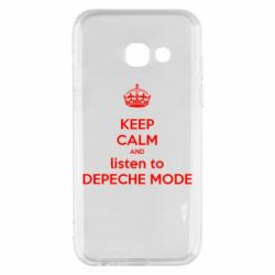 Чехол для Samsung A3 2017 KEEP CALM and LISTEN to DEPECHE MODE