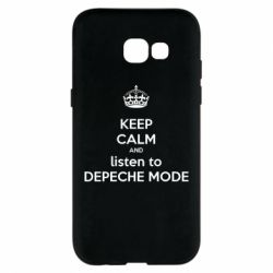 Чехол для Samsung A5 2017 KEEP CALM and LISTEN to DEPECHE MODE