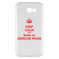 Чехол для Samsung A7 2017 KEEP CALM and LISTEN to DEPECHE MODE