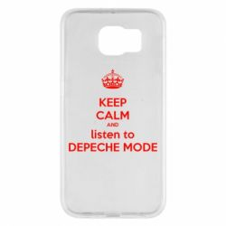 Чехол для Samsung S6 KEEP CALM and LISTEN to DEPECHE MODE