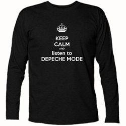 Футболка с длинным рукавом KEEP CALM and LISTEN to DEPECHE MODE - FatLine