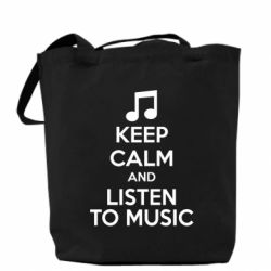 Сумка KEEP CALM and LISTEN TO MUSIC - FatLine