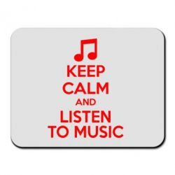 Коврик для мыши KEEP CALM and LISTEN TO MUSIC - FatLine