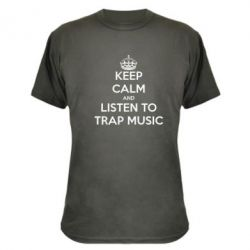 Камуфляжная футболка KEEP CALM and LISTEN TO TRAP MUSIC - FatLine