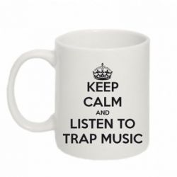Купить Кружка 320ml KEEP CALM and LISTEN TO TRAP MUSIC, FatLine