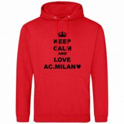 Чоловіча толстовка Keep calm and love AC Milan