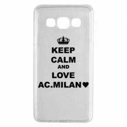 Чохол для Samsung A3 2015 Keep calm and love AC Milan