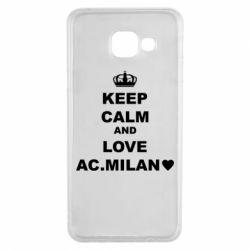 Чохол для Samsung A3 2016 Keep calm and love AC Milan