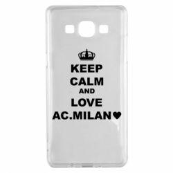 Чохол для Samsung A5 2015 Keep calm and love AC Milan