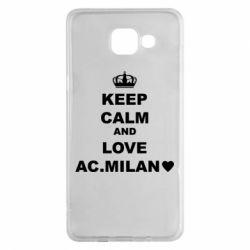Чохол для Samsung A5 2016 Keep calm and love AC Milan