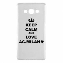 Чохол для Samsung A7 2015 Keep calm and love AC Milan