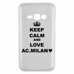 Чохол для Samsung J1 2016 Keep calm and love AC Milan