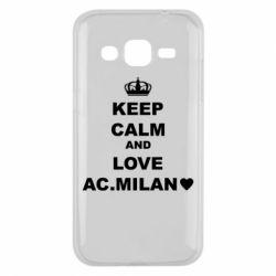 Чохол для Samsung J2 2015 Keep calm and love AC Milan
