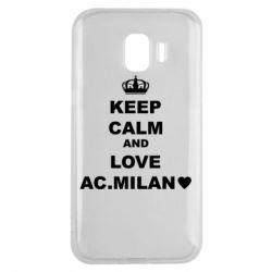 Чохол для Samsung J2 2018 Keep calm and love AC Milan