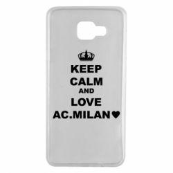 Чохол для Samsung A7 2016 Keep calm and love AC Milan