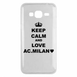 Чохол для Samsung J3 2016 Keep calm and love AC Milan