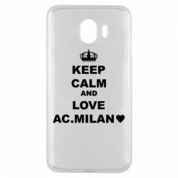 Чохол для Samsung J4 Keep calm and love AC Milan