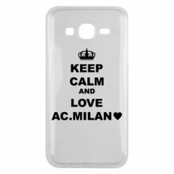 Чохол для Samsung J5 2015 Keep calm and love AC Milan