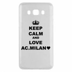 Чохол для Samsung J5 2016 Keep calm and love AC Milan