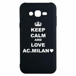 Чохол для Samsung J7 2015 Keep calm and love AC Milan
