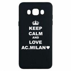 Чохол для Samsung J7 2016 Keep calm and love AC Milan