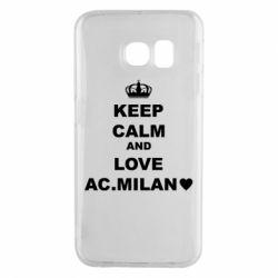 Чохол для Samsung S6 EDGE Keep calm and love AC Milan