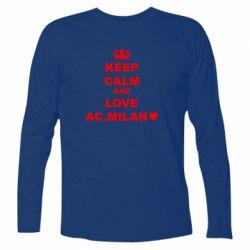Футболка з довгим рукавом Keep calm and love AC Milan