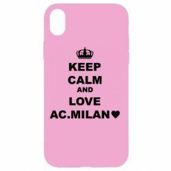 Чохол для iPhone XR Keep calm and love AC Milan