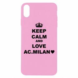 Чохол для iPhone Xs Max Keep calm and love AC Milan