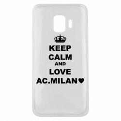 Чохол для Samsung J2 Core Keep calm and love AC Milan