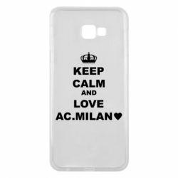 Чохол для Samsung J4 Plus 2018 Keep calm and love AC Milan