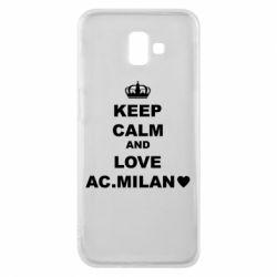 Чохол для Samsung J6 Plus 2018 Keep calm and love AC Milan