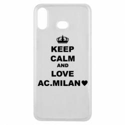 Чохол для Samsung A6s Keep calm and love AC Milan