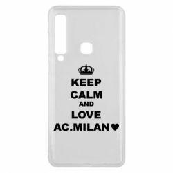 Чохол для Samsung A9 2018 Keep calm and love AC Milan