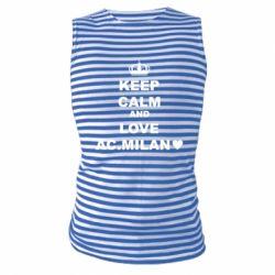Майка-тільняшка Keep calm and love AC Milan