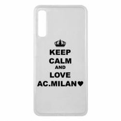 Чохол для Samsung A7 2018 Keep calm and love AC Milan