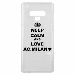 Чохол для Samsung Note 9 Keep calm and love AC Milan