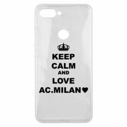Чохол для Xiaomi Mi8 Lite Keep calm and love AC Milan