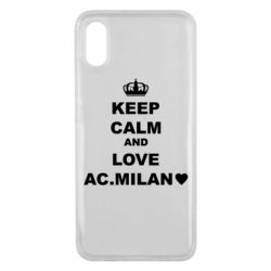 Чохол для Xiaomi Mi8 Pro Keep calm and love AC Milan